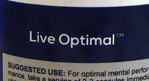 """Shouldn't it be """"Live Optimally?"""" Yes, it should. Bad grammar makes smart nootropics sound dumb."""