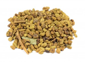 Fenugreek seeds are popular in curry and Indian food, with a taste like maple syrup+celery.
