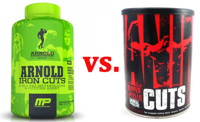 Arnold Iron Cuts vs. Animal Cuts - Best 5 Supplements