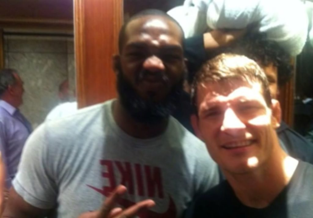 Jon Jones and English MMA fighter Michael Bisping