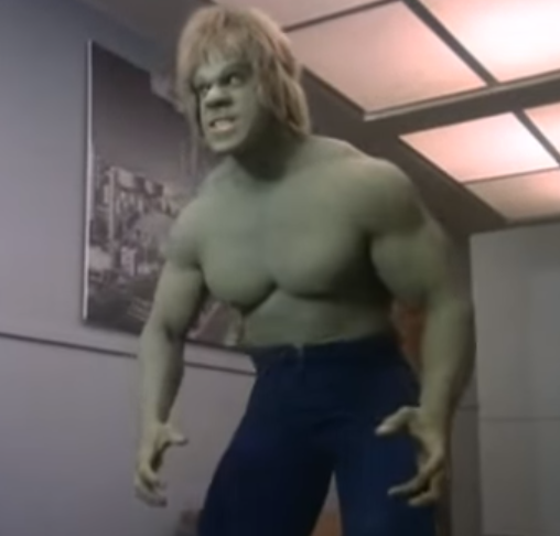 FERRIGNO! Remember this Hulk? No CGI needed, that mass is all freakin' natural! (Bet he took a ton of pre-workouts & protein tho)