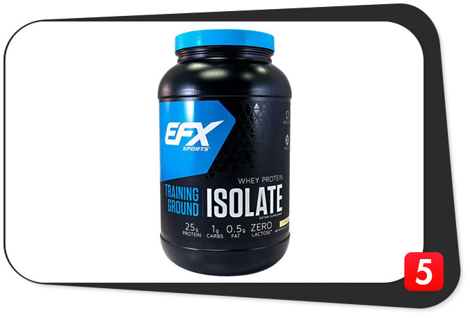 EFX Sports Training Ground Isolate Review – Top-Notch Protalyn WPI Content Speaks Volumes