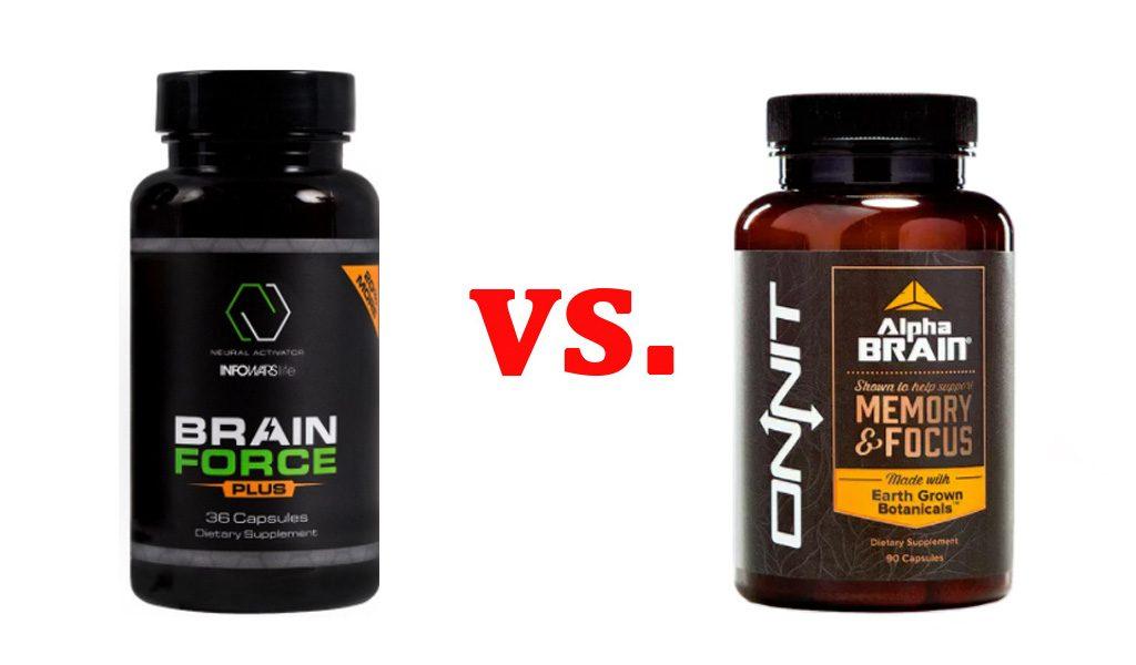 Brain Force Plus vs. Alpha Brain