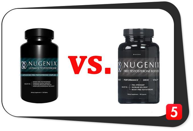 Nugenix Ultimate Testosterone vs. Nugenix Free Testosterone Booster