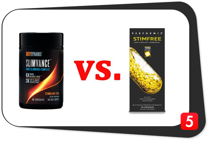 Slimvance Stimulant Free vs. Performix Stimfree