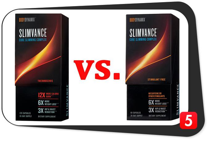 Slimvance Thermogenic vs. Slimvance Stimulant Free