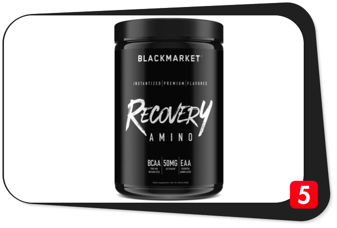 BlackMarket RECOVERY AMINO Review – King of Leucine Content Among BCAA Products Shines