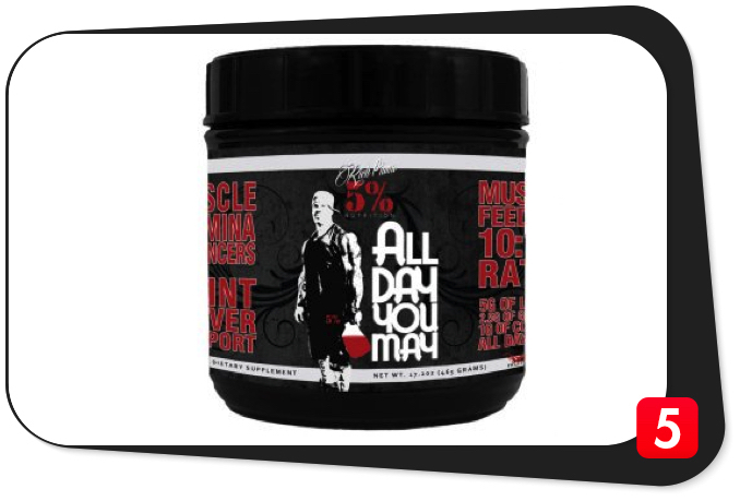 Rich Piana 5% Nutrition ALLDAYYOUMAY Review – Great Potential, Comes Up Short on Promise