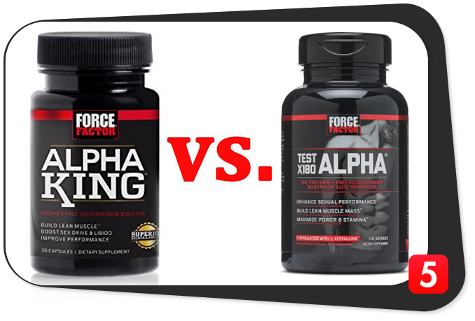 alpha king vs. test x180 alpha
