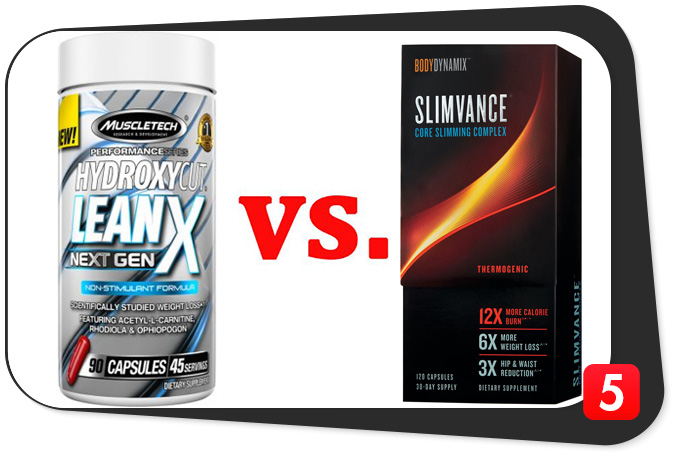 hydroxycut lean x next gen vs slimvance thermogenic