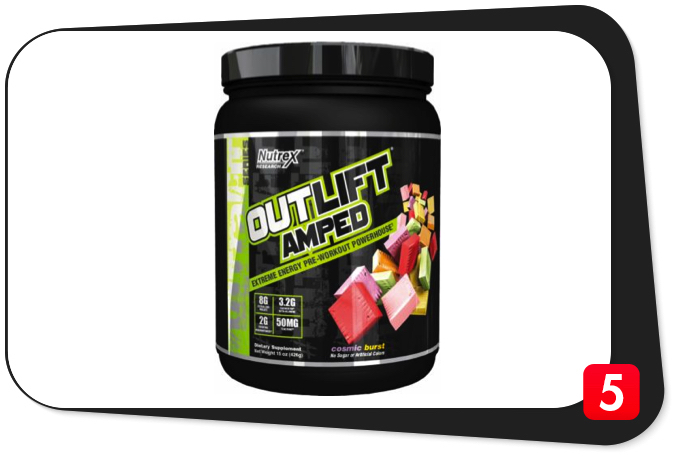 Nutrex OUTLIFT AMPED Review – Extreme Energy Pre-Workout Powerhouse Dazzles