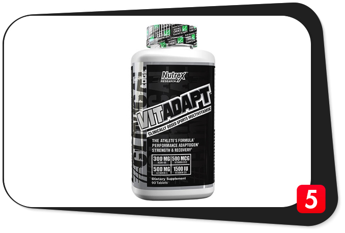 Nutrex VITADAPT Review – Clinically-Dosed Sports Multivitamin A Solid Choice