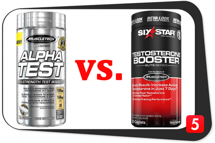 AlphaTest vs. Six Star Testosterone Booster