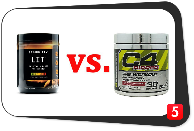 pre-workout supplements beyond raw lit vs c4 ripped