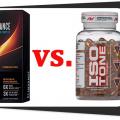 fat burners Slimvance Stimulant Free vs. Iso Tone