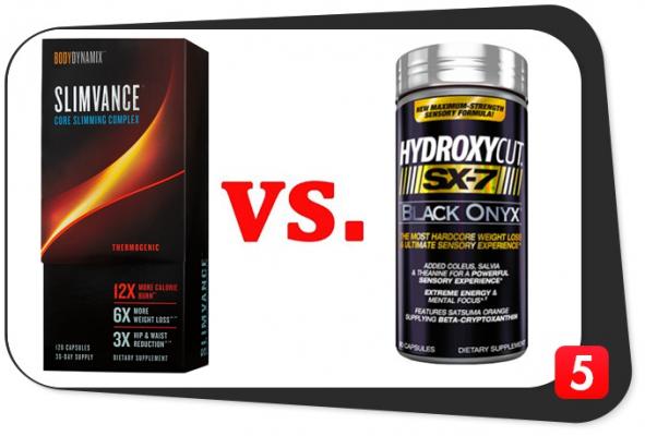 Slimvance Thermogenic vs. Hydroxycut SX-7 Black Onyx
