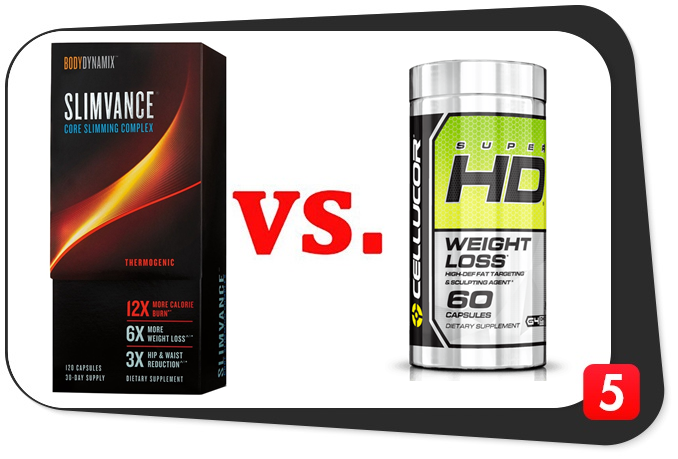 Slimvance Thermogenic vs. Cellucor Super HD