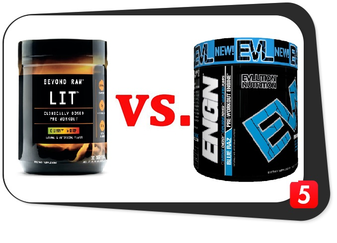 preworkout supplements beyond raw lit vs evl engn review