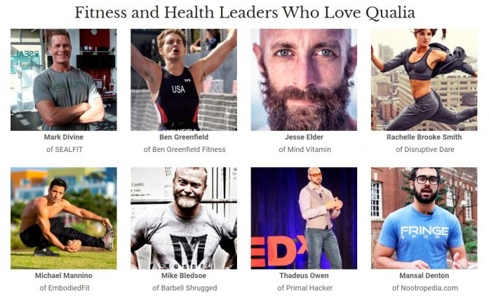 fitness and health leaders who love qualia