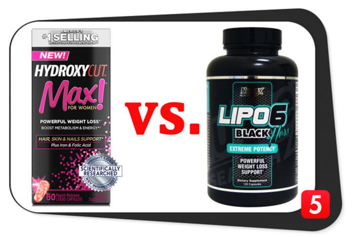 Hydroxycut Max! for Women vs. Lipo 6 Black Hers