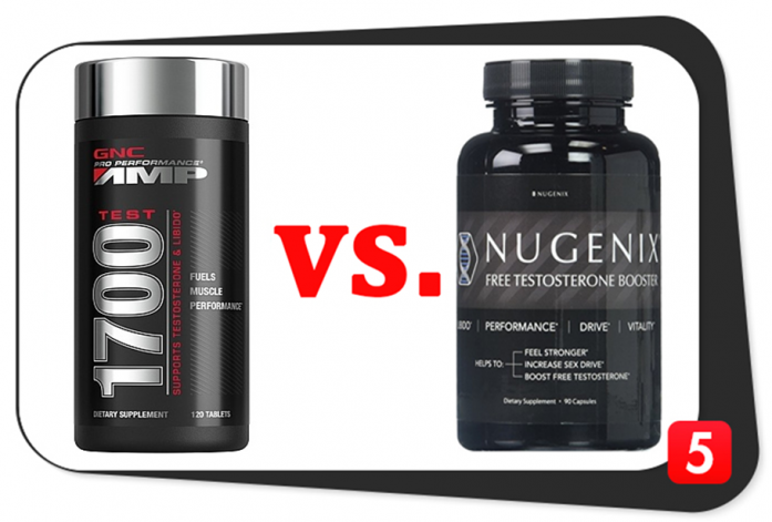 AMP Test 1700 vs. Nugenix Free Testosterone Booster