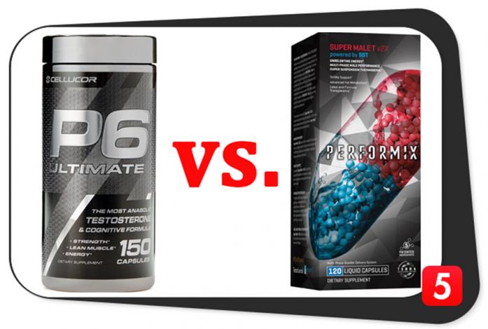 Cellucor P6 Ultimate vs. Performix Super Male T v2X
