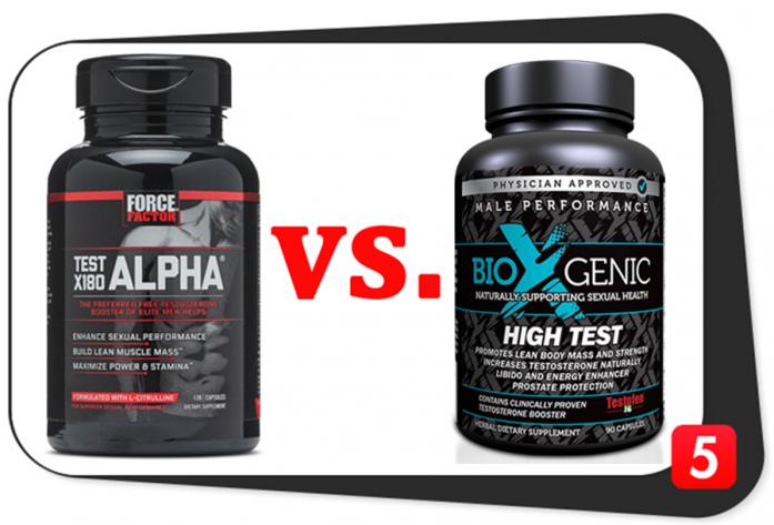 Test X180 Alpha vs. BioXgenic High Test