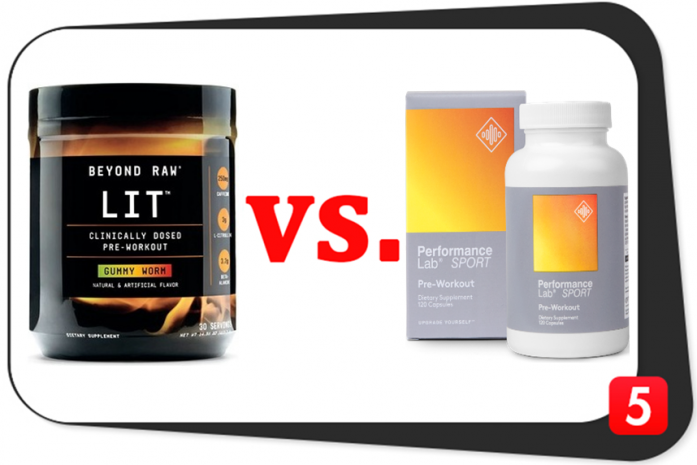 GNC BEYOND RAW LIT vs. Performance Lab SPORT Pre-Workout