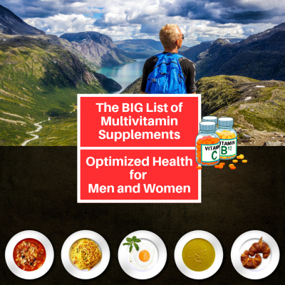 list of Multivitamin Supplements