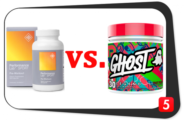 Performance Lab SPORT Pre-Workout vs. Ghost Legend