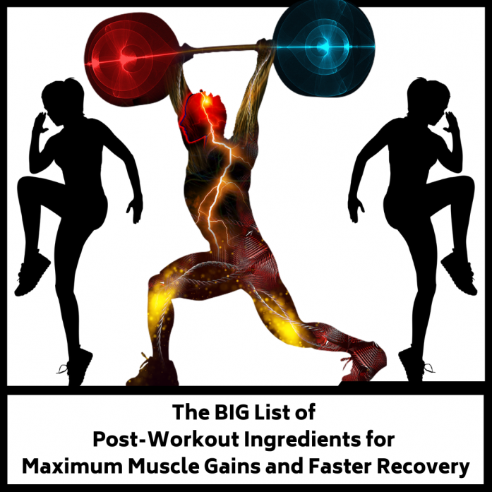 list of post-workout ingredients