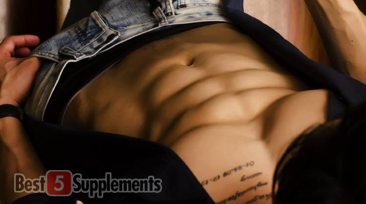 Man with abs after taking the best forkolin supplement
