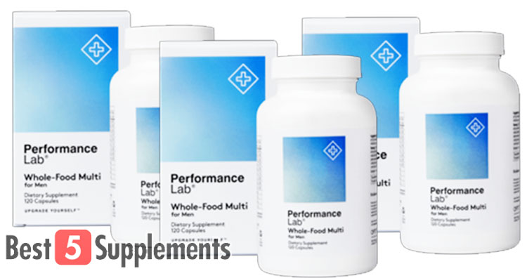 3 bottles of our best multivitamin for men Performance Lab Whole-Food Multi
