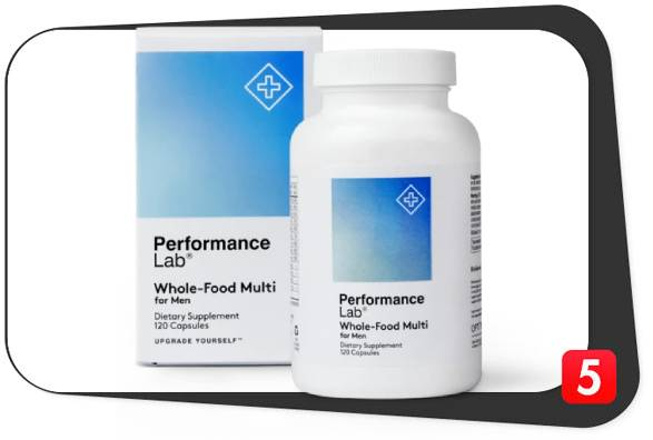 The best multivitamin for men over 50, Performance Lab Whole-Food Multi