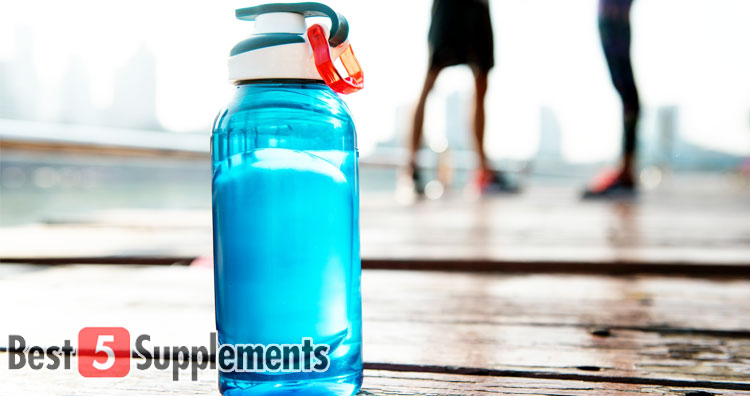 picture of a natural water bottle for the best vegan pre-workouts