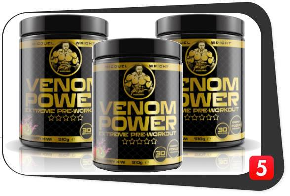 3 bottles of Venom Power Pre-Workout for our Best5Supplements Review