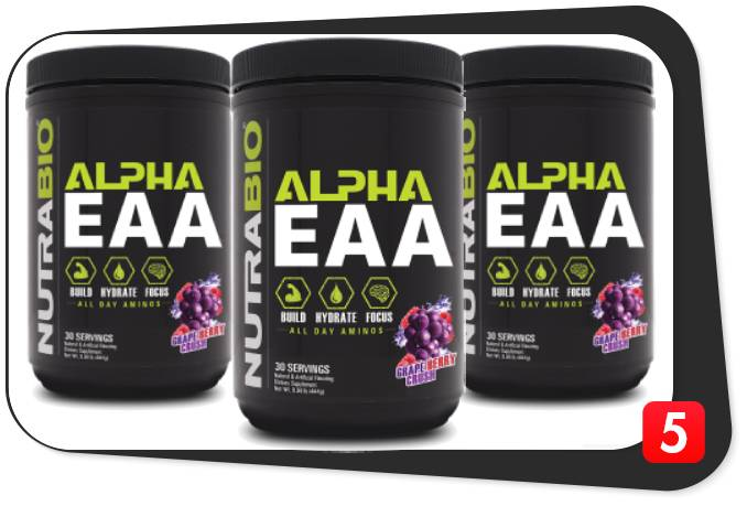 3 bottles of Alpha EAA for our review