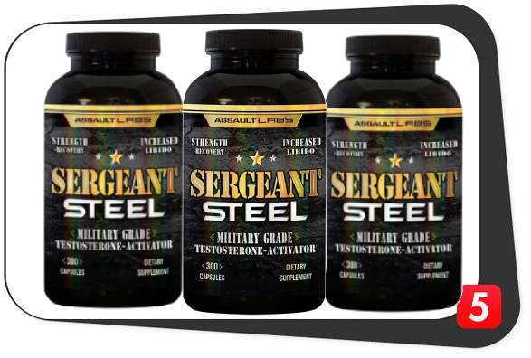 3 bottles of Sergeant Steel for the Best5Supplements Review