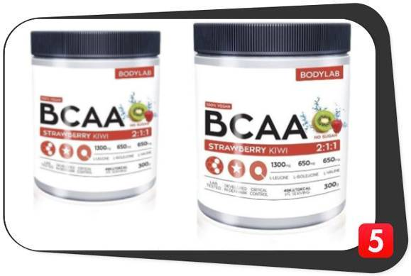 2 bottles of BodyLab BCAA Instant for our review