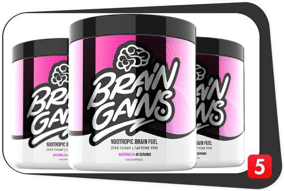 3 bottles of BrainGains for our nootropic review