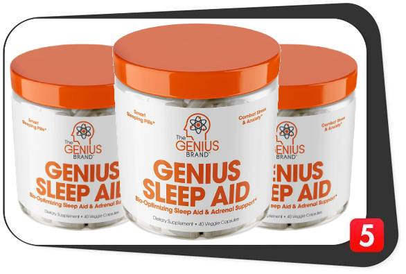 3 bottles of Genius Sleep Aid for our review