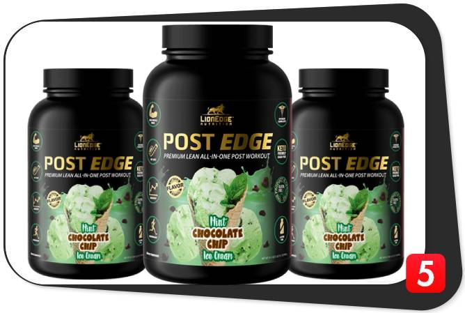 3 bottles of LionEdge Nutrition Post Edge for our review