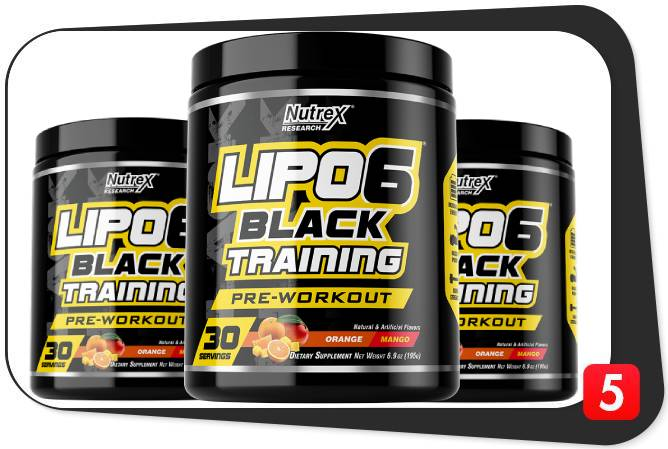 3 bottles of Lipo 6's pre-workout called Black Training for our review