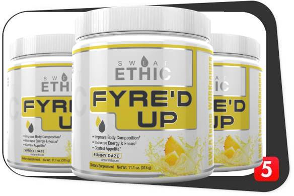 3 bottles of Sweat Ethic Fyre'd Up for our review