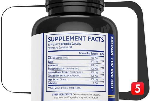 The supplement facts of Zhou Driftoff for this review