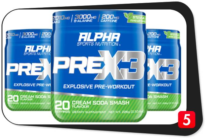 3 containers of Alpha Sports PreX3 for our review