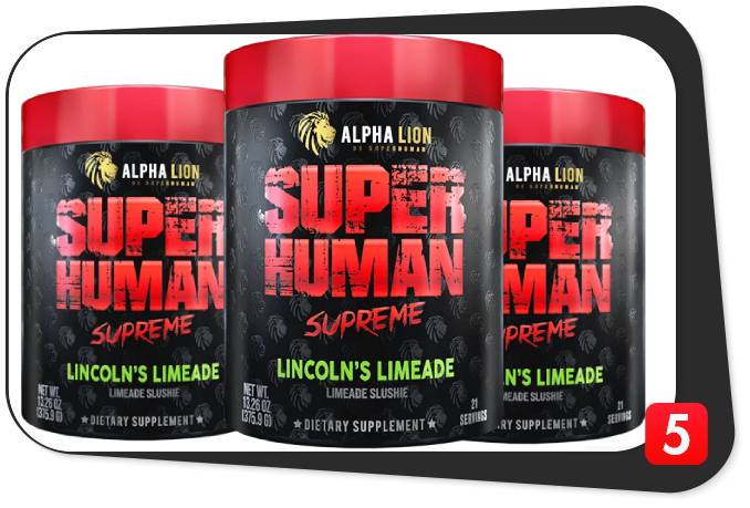 3 containers of Alpha Lion SuperHuman Supreme Pre-Workout for this review