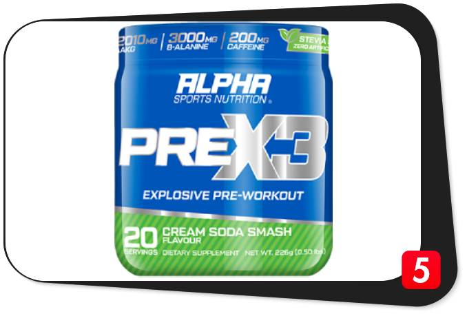 Alpha Sport PreX3 Pre-Workout Review