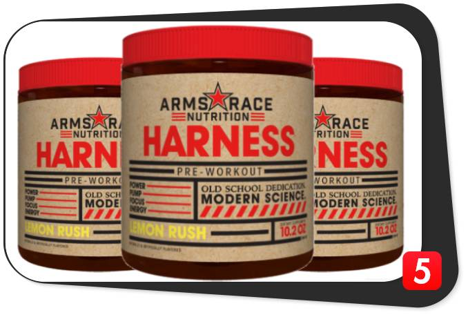 3 bottles of Arms Race Nutrition Harness for our review