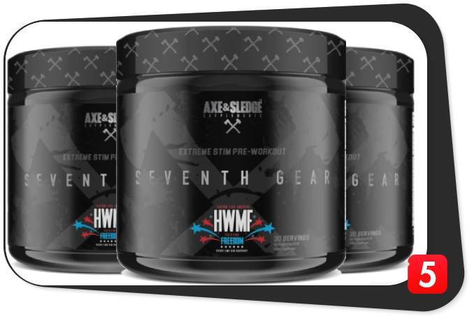 3 containers of Axe and Sledge Seventh Gear for our review